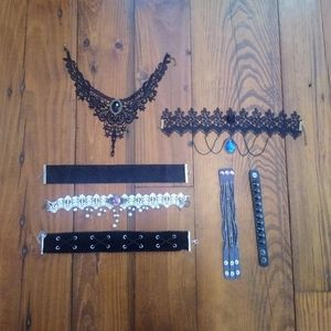 Chokers And Bracelets Bundle